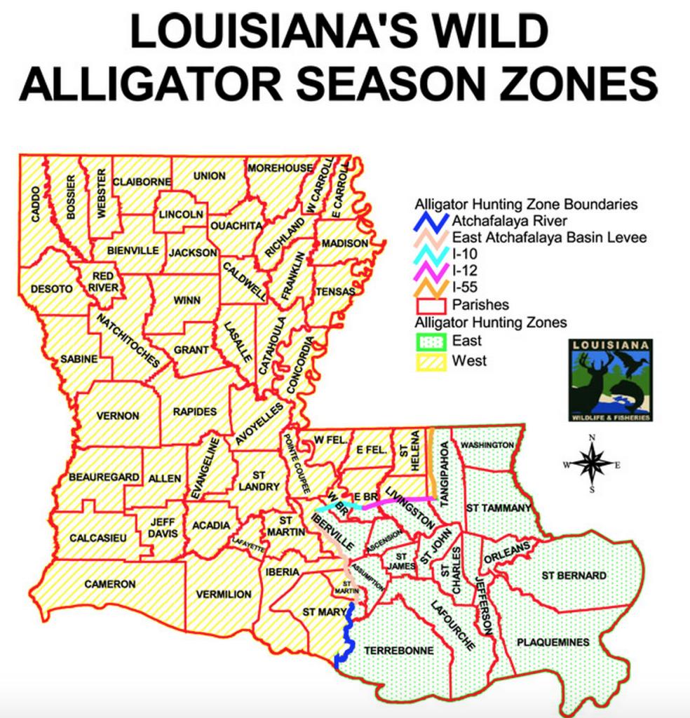 louisiana-wild-alligator-season-zones