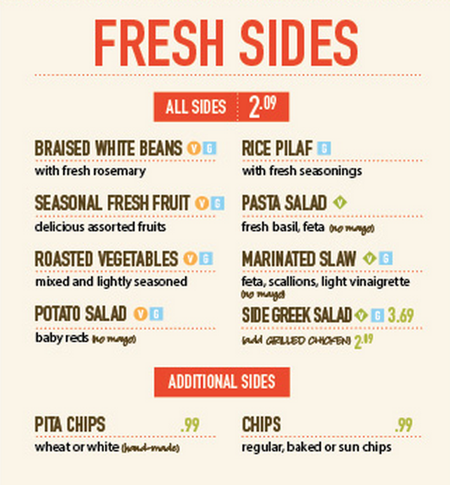 Zoes Kitchen Menu Sides Wow Blog
