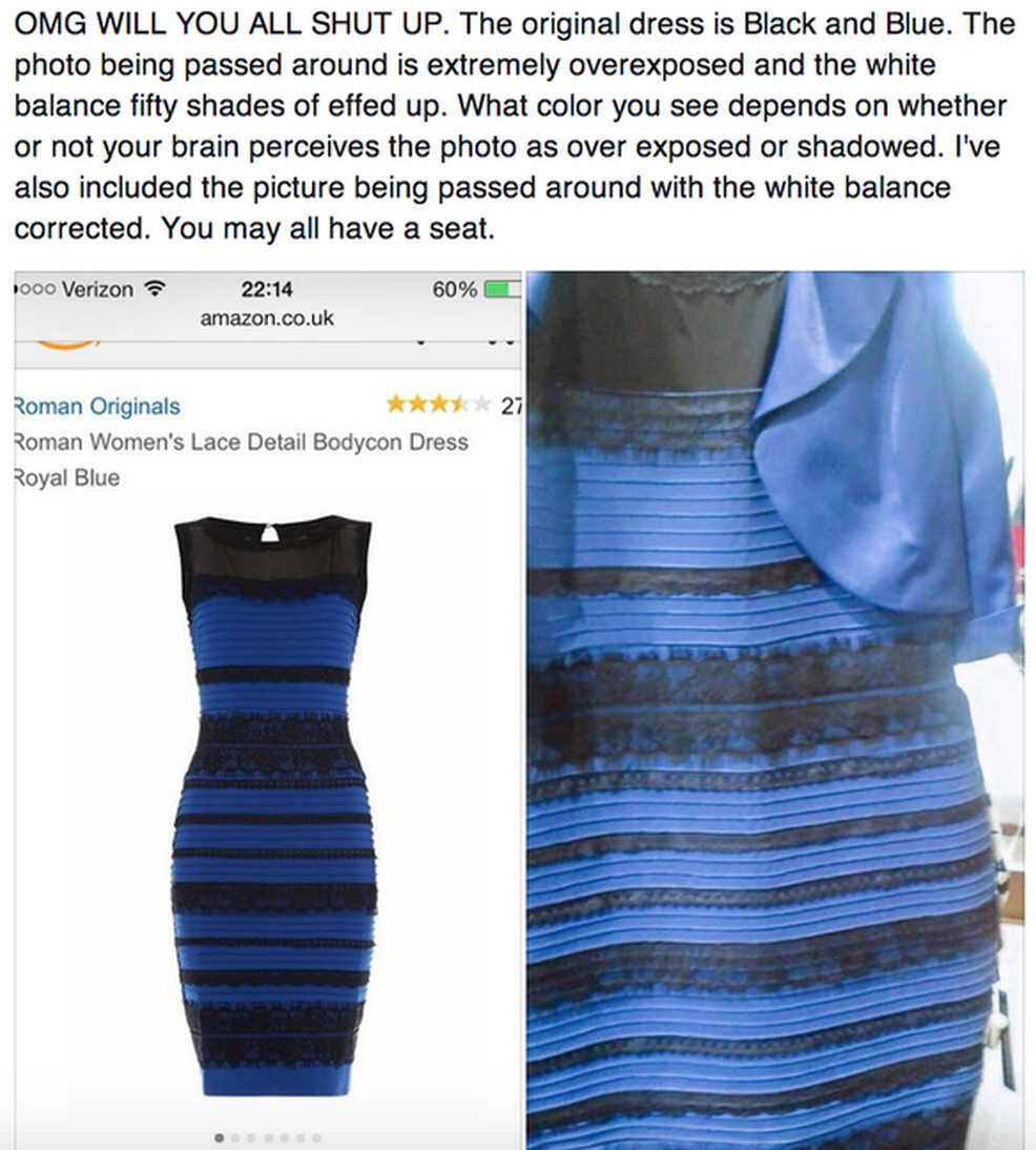 Dress what color do you see blue or gold