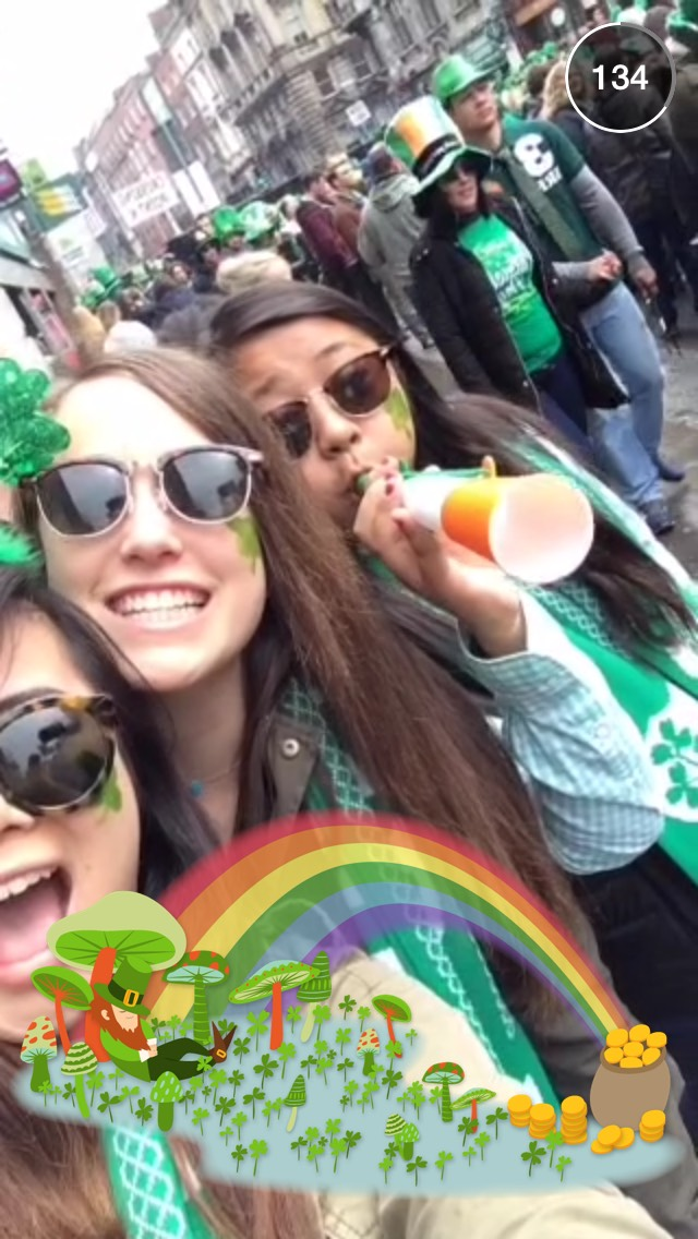 girls-snapchat-story-st-patricks-day