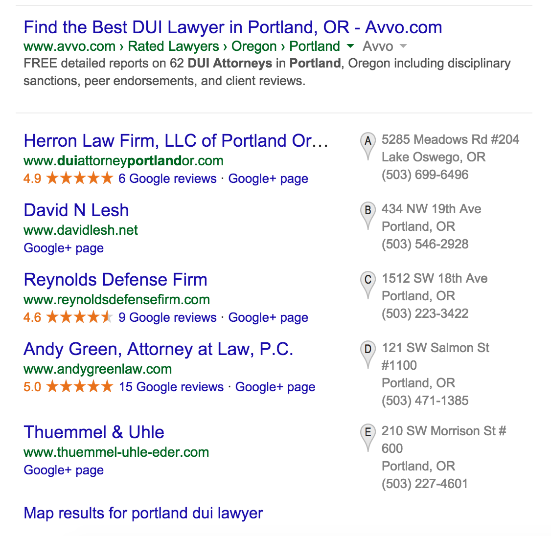 dui-lawyer-google-local-search-map