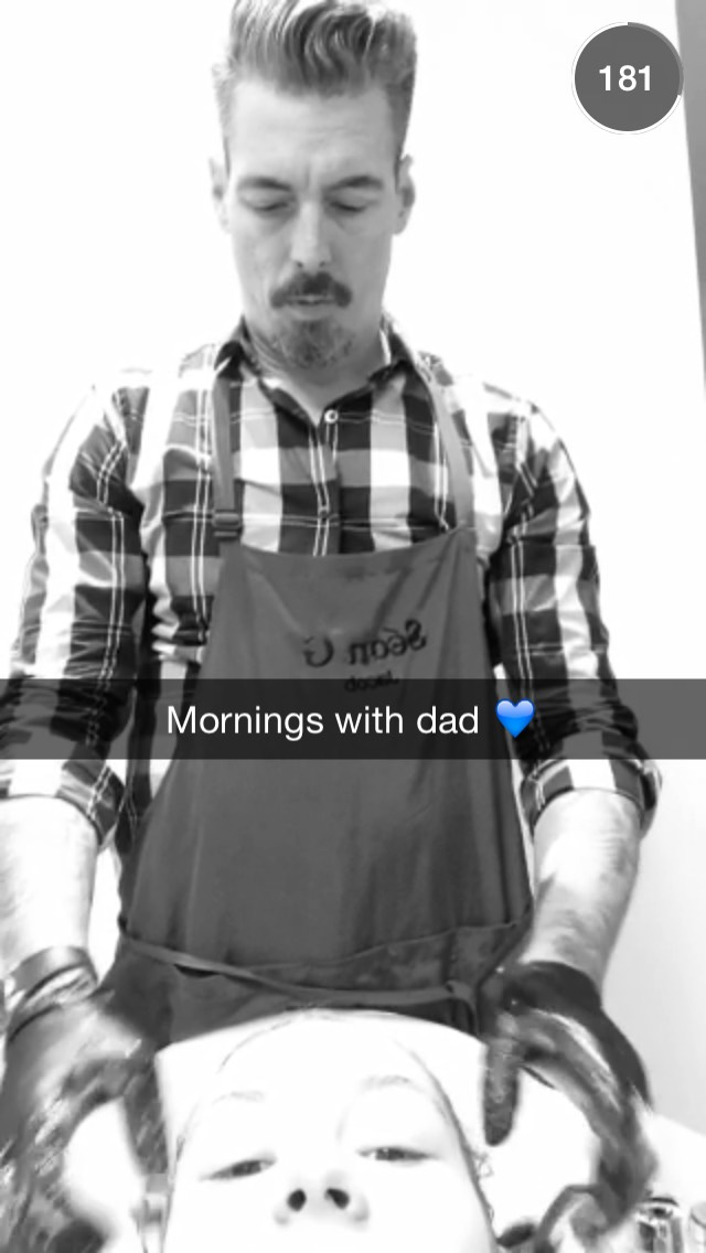 mornings-with-dad-snapchat-story