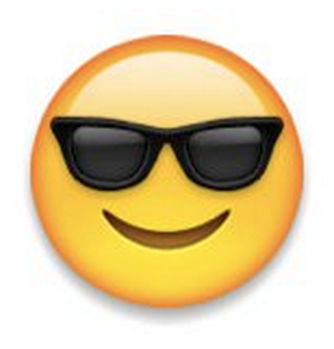 Smiley Face With Sunglasses  what does a sunglasses emoji mean on snapchat best friends
