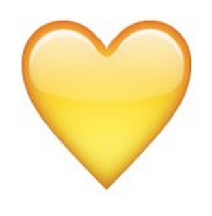 What does the yellow heart emoji mean on snapchat