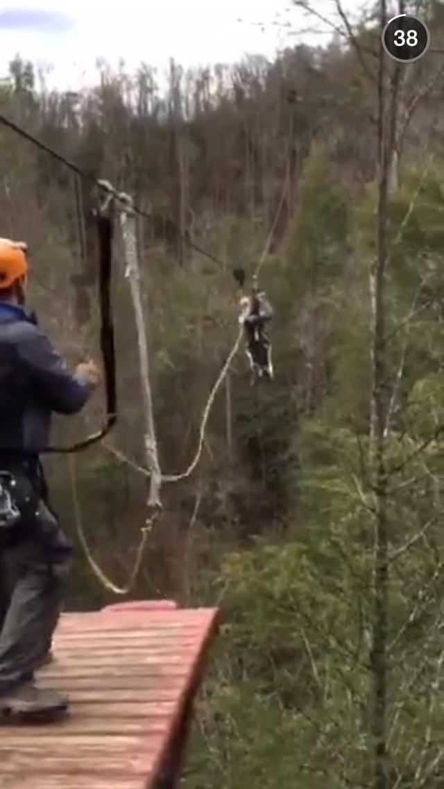 ziplining-snapchat-story