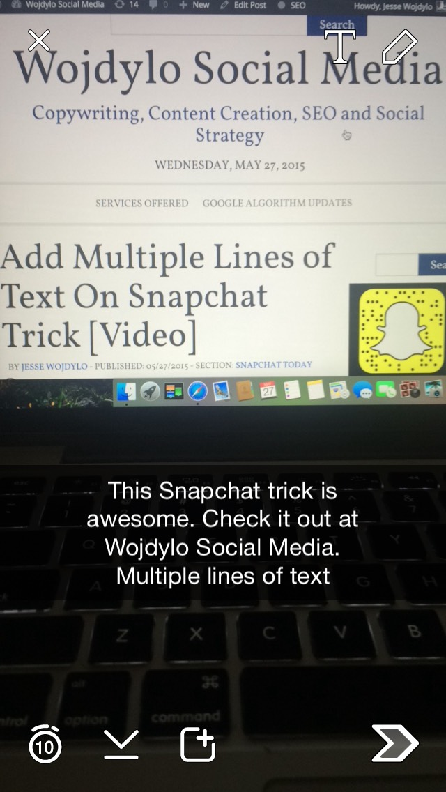 mutliple-lines-of-text-snapchat