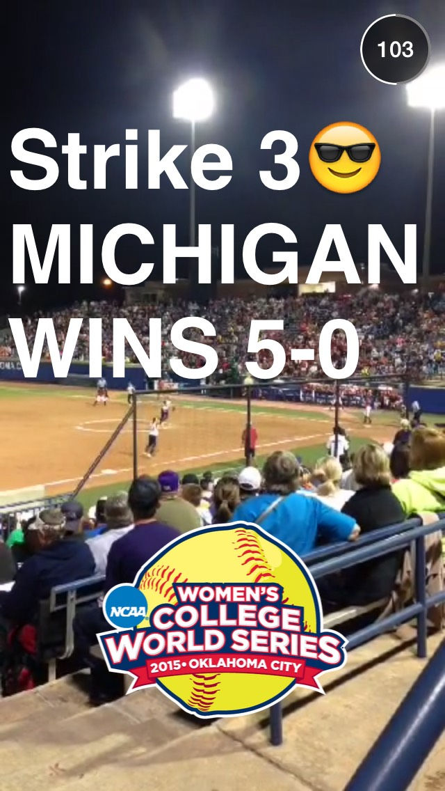 michigan-softball-snapchat-story