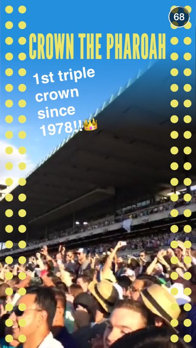 triple-crown-snapchat-story