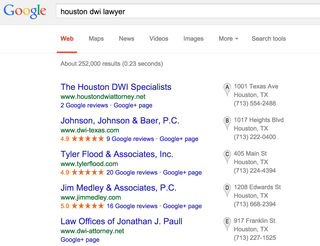 houston-dwi-lawyer-seo-google-search