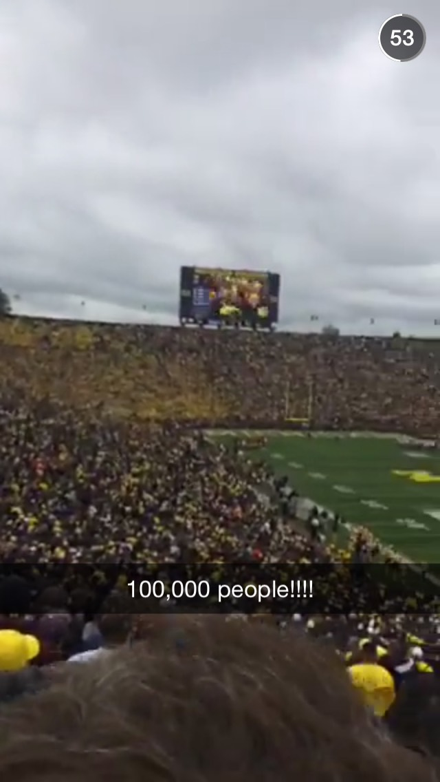 big-house-michigan-snapchat-story