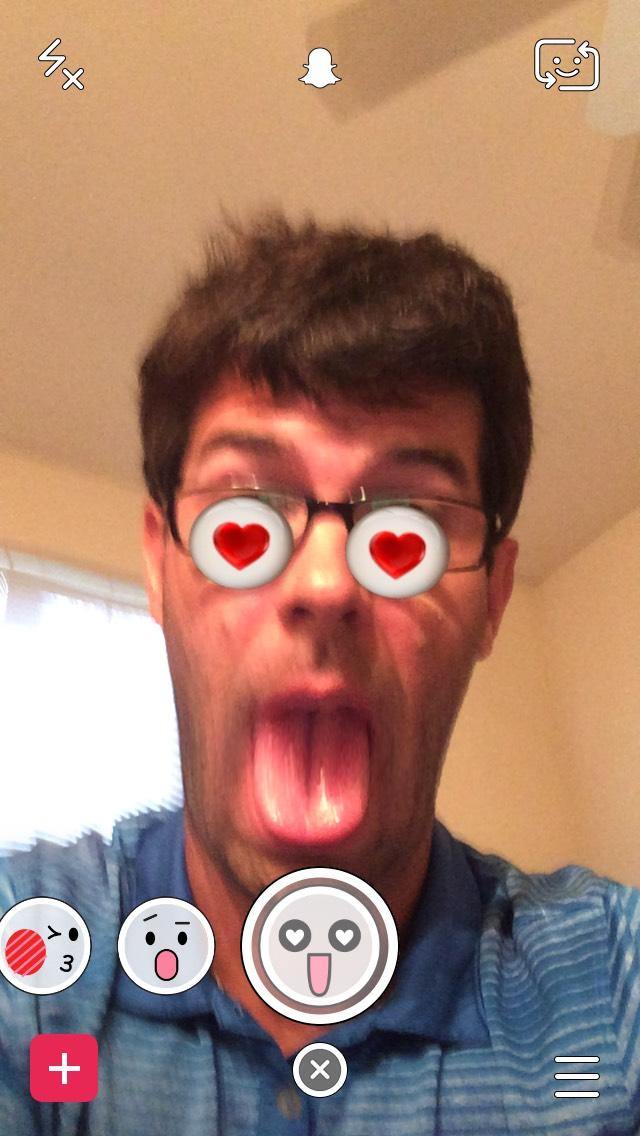heart-eyes-tongue-snapchat-filter