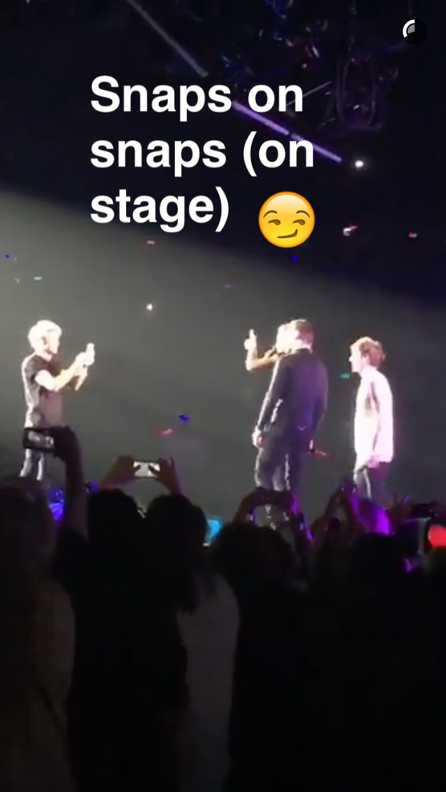 one-direction-using-snapchat-on-stage