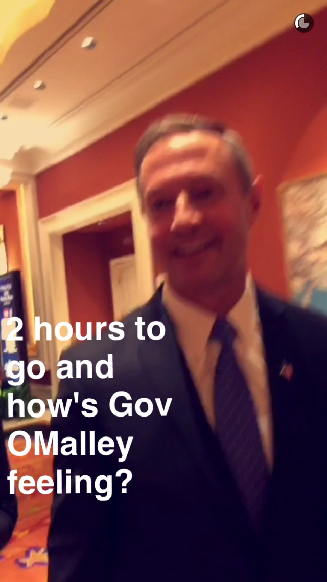 governor-omalley-debate-snapchat