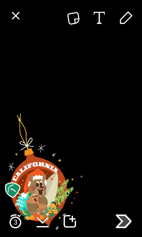 California Snapchat Christmas Ornament Filter | Wojdylo Social Media