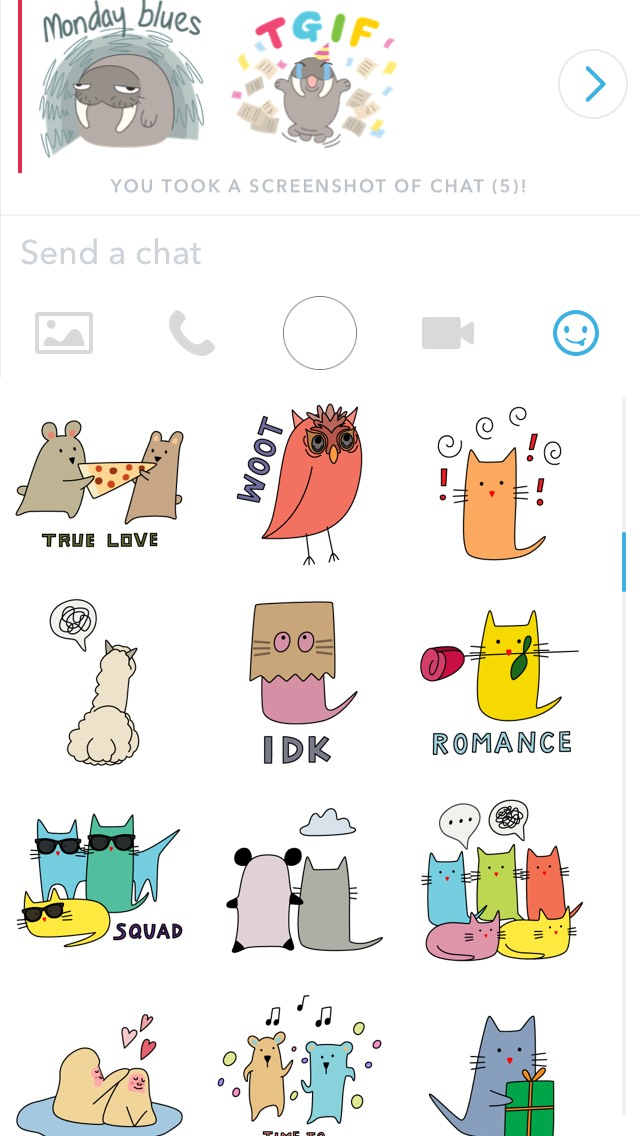 chat stickers and their meaning
