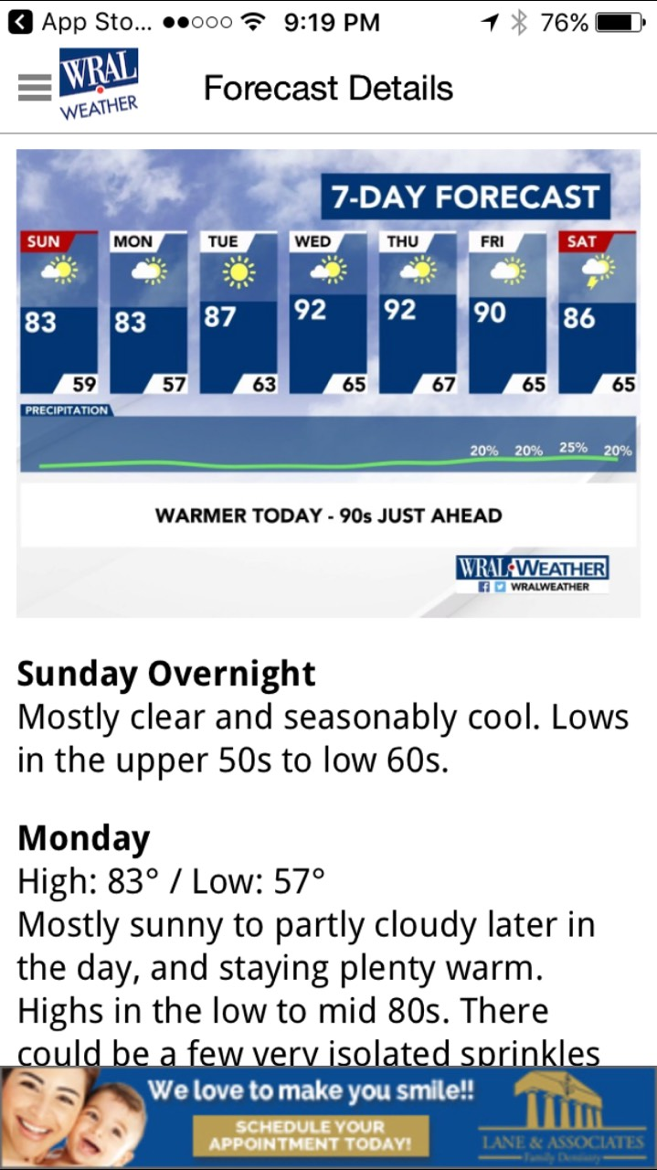 How Can I Get an Ad on the WRAL Weather or News App
