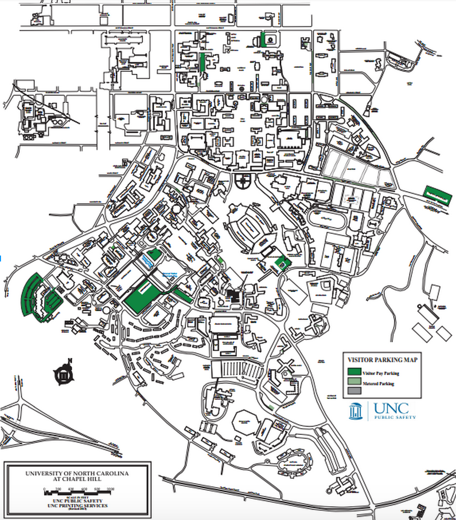Unc Parking Map unc chapel hill viistors parking map   Wojdylo Social Media Unc Parking Map