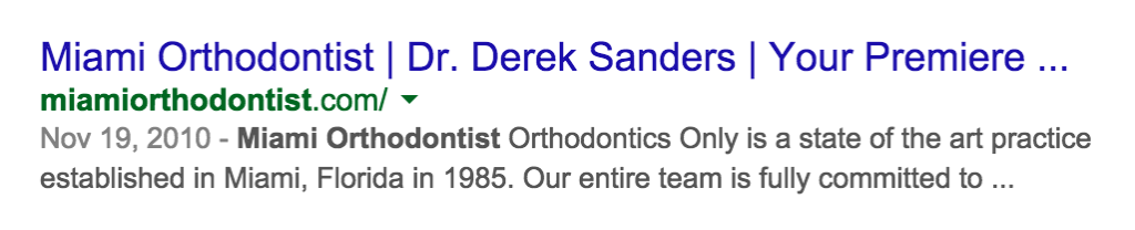 date-under-google-search-result