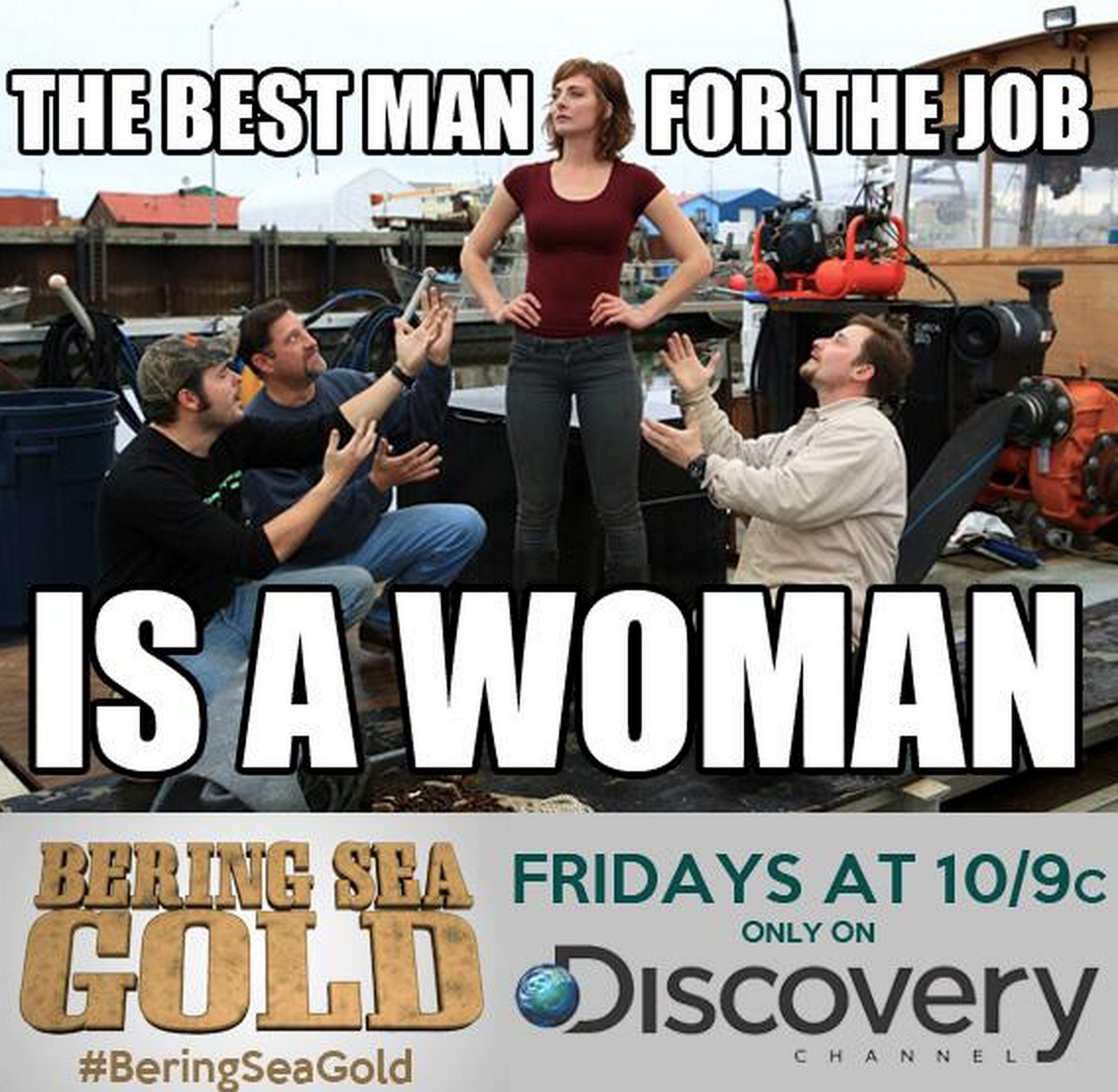 Emily Riedel Of Discovery TV Show Bering Sea Gold