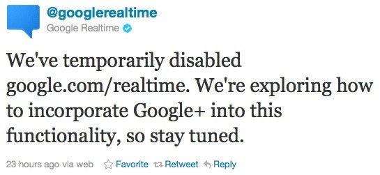 google-realtime-tweet