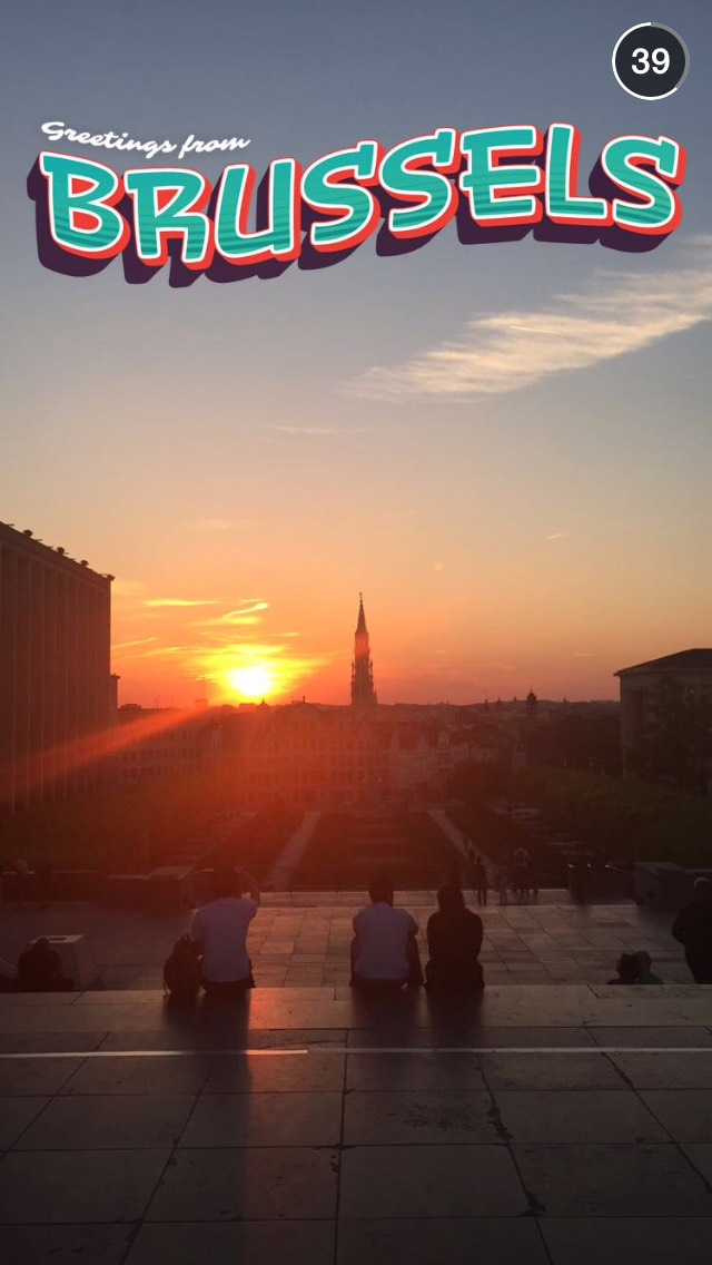 brussels-sunset-snapchat-story