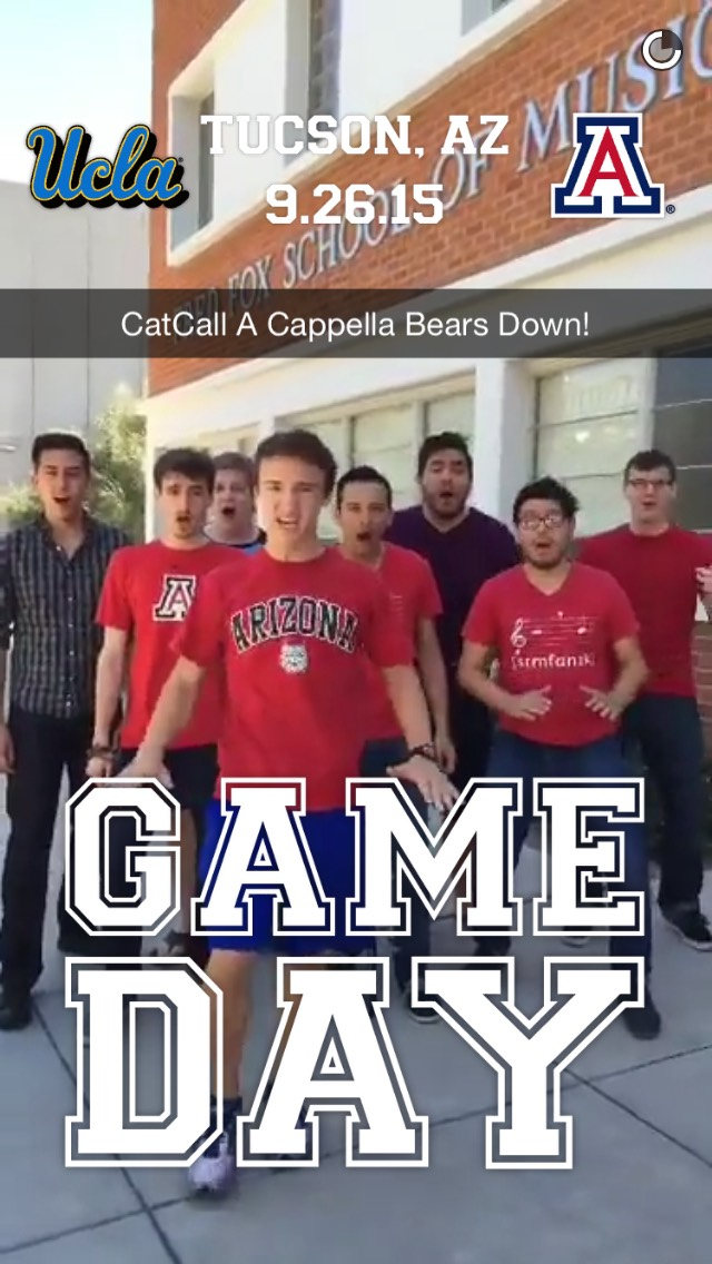 arizona-gameday-snapchat-story