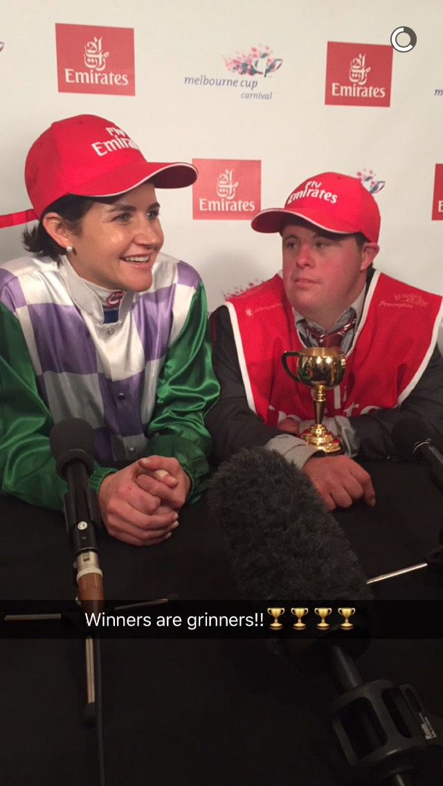 female-horse-racing-snapchat