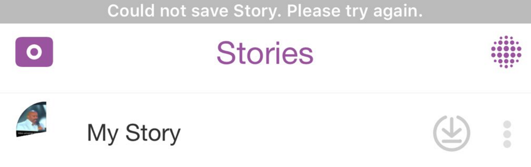 snapchat-could-not-post-story-error