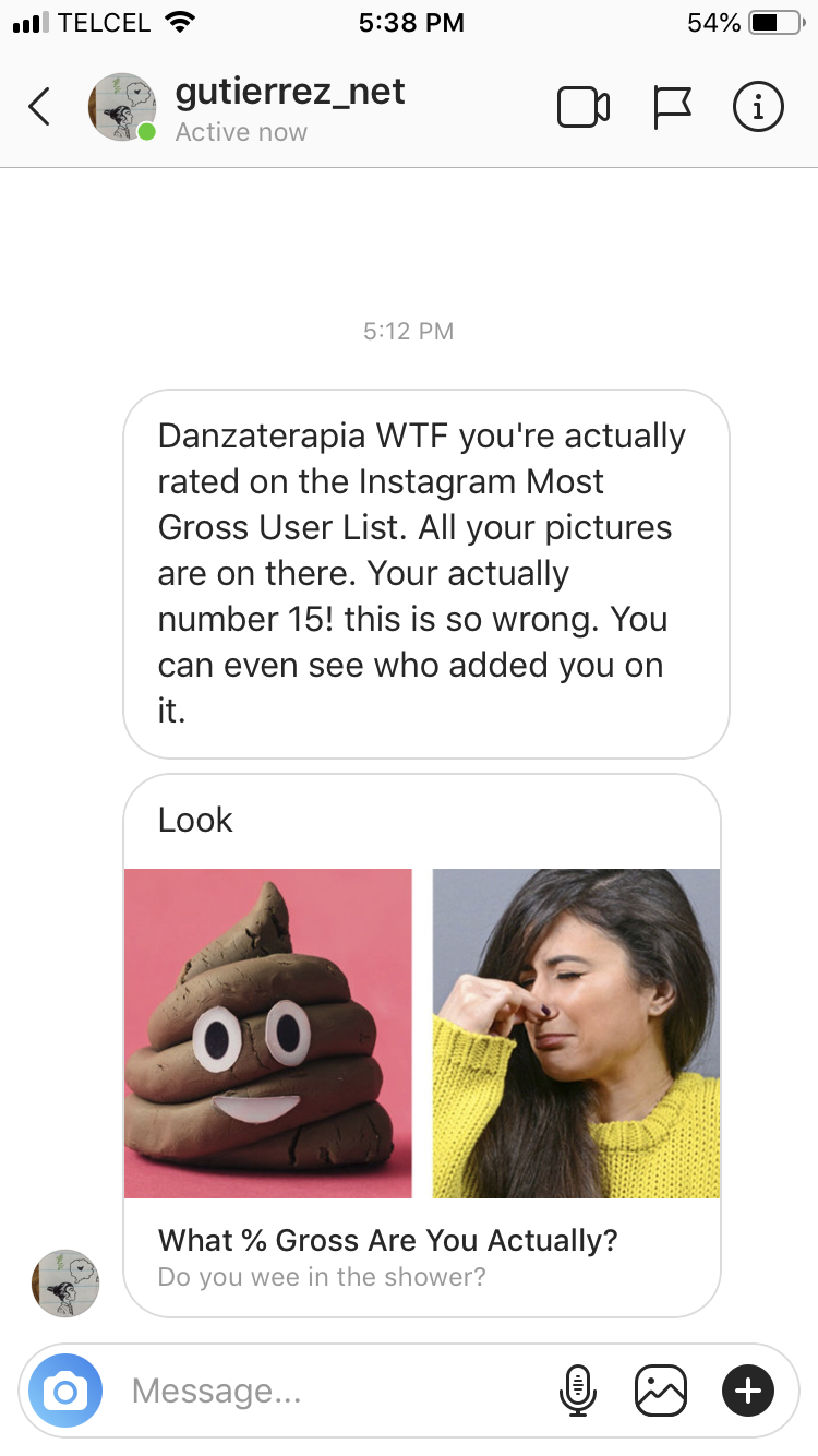 What % Gross Are You Actually Instagram DM Hack - Wojdylo